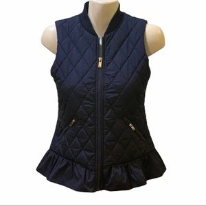 Maison Jules Navy Sleeveless Vest Small